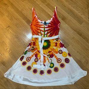 Striking Desigual tropical print dress